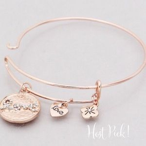 Jewelry - 4 for $25 Rose Gold Love charm bracelet